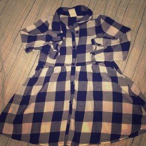 Fashionable plaid dress for toddler girl
